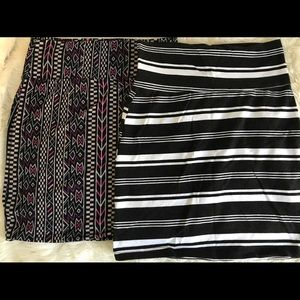 Two body con skirts